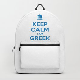 KEEP CALM I AM GREEK Backpack
