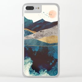 Blue Mountain Reflection Clear iPhone Case