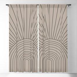 Boho Minimalistic Art Blackout Curtain