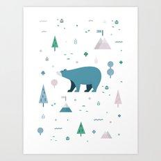 Bear-y Nice to Meet You Art Print