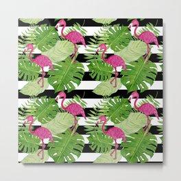 Flamingo Party II Metal Print