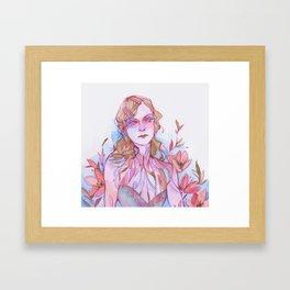 Floral Sadness Framed Art Print