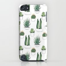 watercolour cacti and succulent Slim Case iPod touch