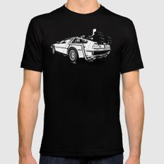 DeLorean / BW LARGE Mens Fitted Tee Black