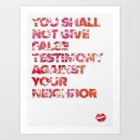 The Ninth Commandment Art Print