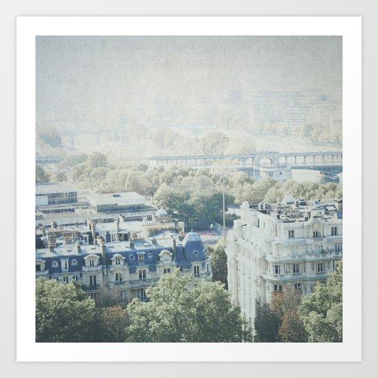 Letters From The Seine - Paris Art Print