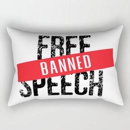 Free Speech Banned Rectangular Pillow