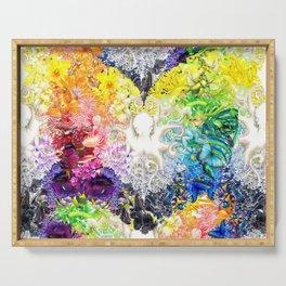 Rainbow Spectrum heart extra dense pattern Serving Tray