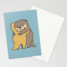Otter Hugs Stationery Cards