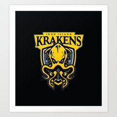 Iron Island Krakens Art Print