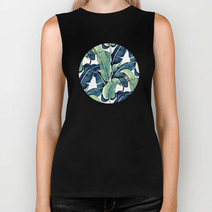 Banana leaves Biker Tank