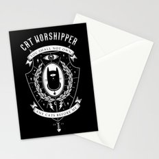 Cat Worshipper Stationery Cards