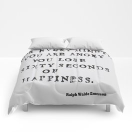 Happiness Ralph Waldo Emerson Quote Comforters