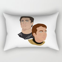 The Two Captains Rectangular Pillow