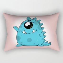 Blue Monster Rectangular Pillow