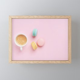 Macaroons & Coffee Framed Mini Art Print