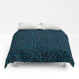 Teal Leopard Animal Pattern Comforters