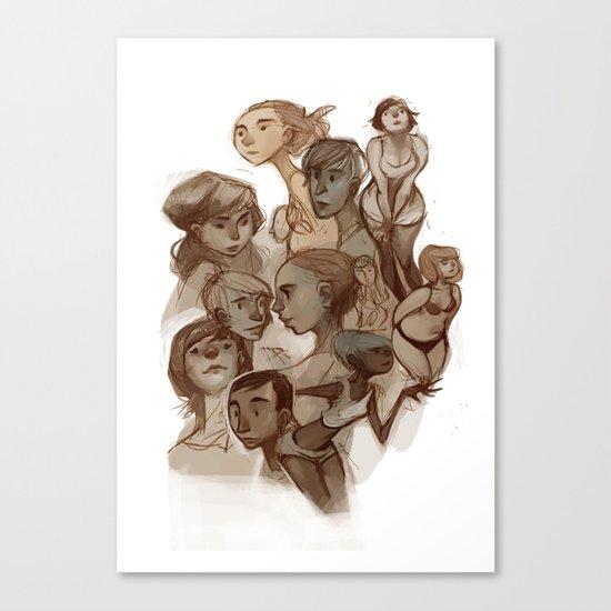 sketches 01 Canvas Print