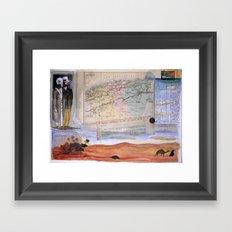 KIT AND PORT (THE SHELTERING SKY) Framed Art Print