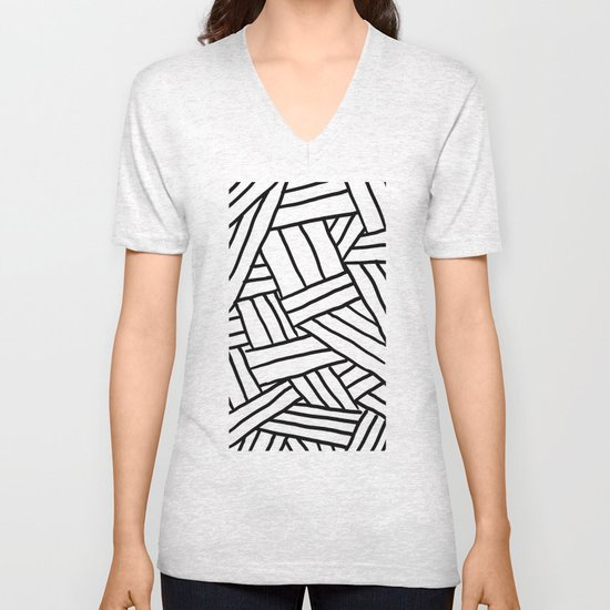Raw Pattern Series: n.1 Unisex V-Neck