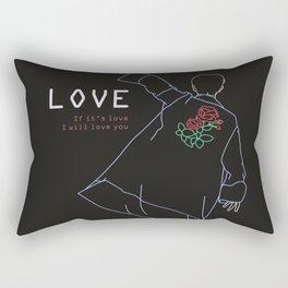 BTS RM LOVE LINE ART Rectangular Pillow