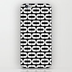 Contemporary Black and White Split Ovals Pattern iPhone & iPod Skin