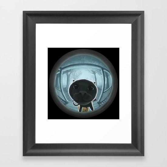 Trick or treat? Framed Art Print
