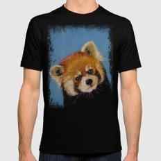 Red Panda Mens Fitted Tee Black MEDIUM