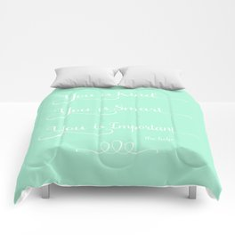 You is Kind - Mint Green Comforters