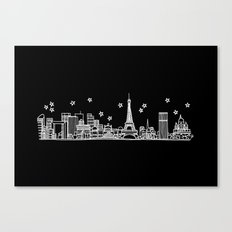 Paris, France City Skyline Canvas Print