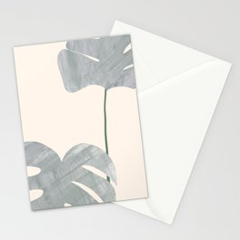 Monstera in Pot Illustration Art Stationery Cards
