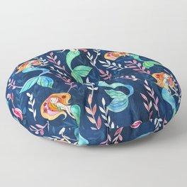 Merry Mermaids in Watercolor Floor Pillow