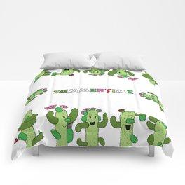 Cactus Family (colour version) Comforters