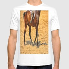 Horse Gallop Mens Fitted Tee White MEDIUM