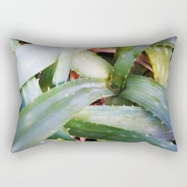 texture of tropical plants in green color. For clothes, furniture, art in general, other products Rectangular Pillow