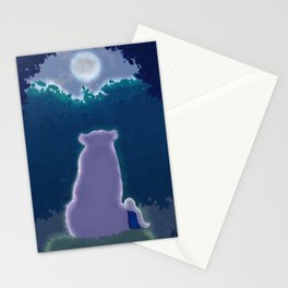 Mino and princess's moon Stationery Cards