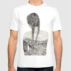 All That Is Left Is The Trace Of A Memory Mens Fitted Tee White MEDIUM