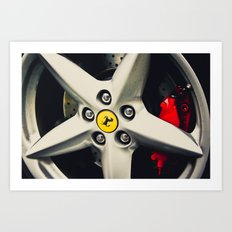 Ferrari Wheel Art Print