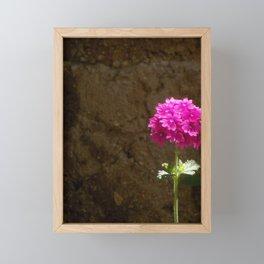 Lonely Verbena Framed Mini Art Print