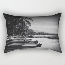 Sugar Beach Hawaiian Outrigger Canoes Kihei Maui Hawaii Rectangular Pillow