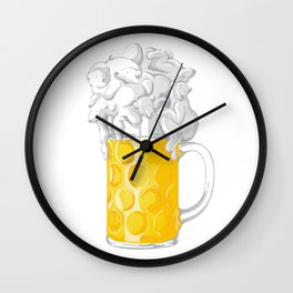 Ice Cold Bee(a)rs Wall Clock