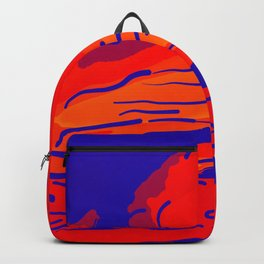 abstract style aurora borealis absbry Backpack