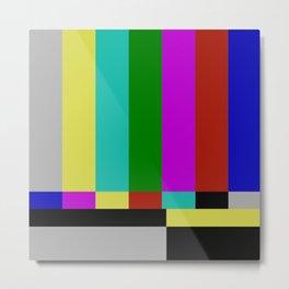 STATIC TV Metal Print