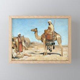 John Frederick Lewis A Bedouin Encampment Framed Mini Art Print