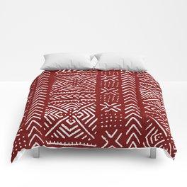 Line Mud Cloth // Maroon Comforters
