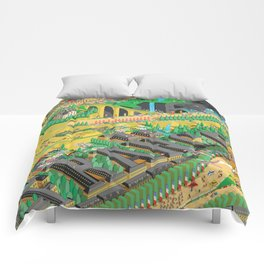 Tour De France Eiffel Tower Comforters