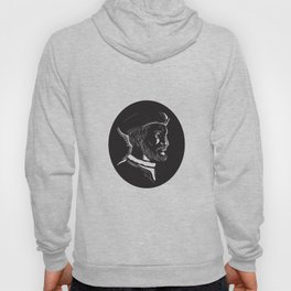 Jacques French Explorer  Oval Woodcut Hoody