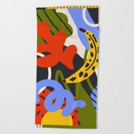 Jungle Print Beach Towel