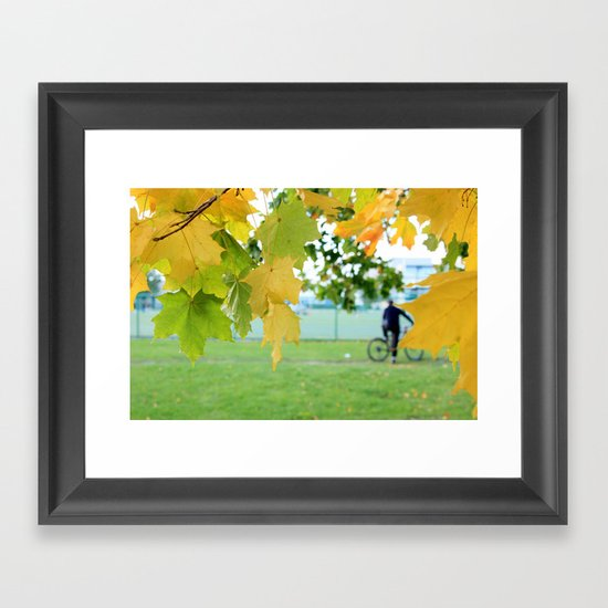 Fall letters Framed Art Print