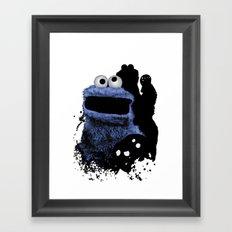 Monster Madness: Cookie Monster Framed Art Print